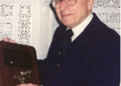 """""""Doc"""" receiving award from his namesake chapter in 1998"""